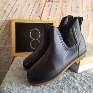 Eddie Bauer Rubber Rain Boots Navy Blue Size 8